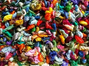 Mixed Lot of 50 DMC Embroidery Floss hank/skeins
