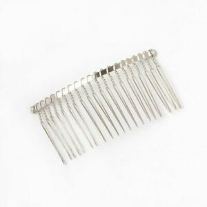 Plain Silver Wire Side Hair Comb/ Slides