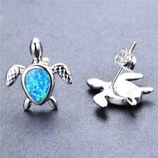 Turtle Artificial Fire Opal Stud Earrings Woman Jewelry Gifts Tortoise Ear Studs
