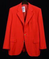 Belvest Handmade in ITALY Red S120's Wool Gold Btn Blazer Sport Coat Jacket 44 S