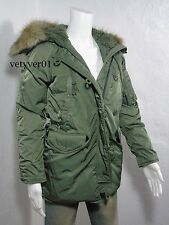 RALPH LAUREN Denim & Supply Military Parka Down Snorkel Jacket Army Green sz XS