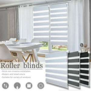 Premium Day and Night Zebra/Vision Window Roller Blinds 5 Sizes 150cm Drop