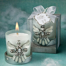12 angel themed candle Favor Christening Baptismal Communion Wedding Favors