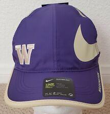 NWT Nike Washington Huskies Big Swoosh Adjustable Featherlight Dri-FitHat