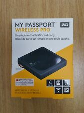 WD My Passport Wireless Pro 4TB Hard Drive with WiFi & SD Card Reader - New