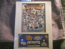 SUPERBOWL 46   N.E.PATRIOTS  PHOTO AND 1ST DAY COVER   2/01/2015  #1055/5000 LE
