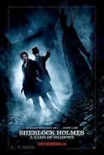 SHERLOCK HOLMES A GAME OF SHADOWS MOVIE POSTER DOUBLE SIDED  27x40 **MINT**