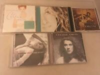 5 CELINE DION CDS,FALLING INTO YOU,ONE HEART,ALL THE WAY,THE COLOUR OF MY LOVE &