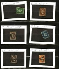 CEYLON, Assortment of 6 Classic USED Stamps