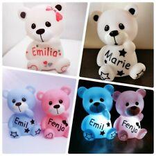 Nachtlicht mit Namen★ teddy ★ Baby★★Junge★Mädchen★Geschenk★Geburt