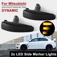 Adanse LED-Seitenmarkierungsleuchte f/ür Lancer EVO X Sport Lampe Repeater UP Normal