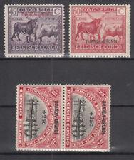 Ruanda Urundi  - Mi.-Nr. 19-20 & 21-22 (Paar)  aus 1925