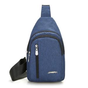 Mens Sling Bag CrossBody Chest Bag Sports Travel Nylon Shoulder Backpack Handbag