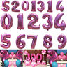 40 Inch Pink Giant Foil Number 0-9 Balloons Helium Large Baloons Birthday Party