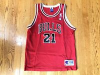 Vintage Marcus Fizer Chicago Bulls #21 NBA Champion Jersey Boys L (14-16) EUC