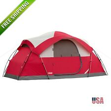 Coleman 8 Person Tent Waterproof Weathertec All Season Camping Hiking Outdoor