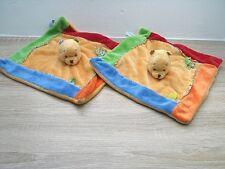 2 x DISNEY Bär Winnie the Pooh ca 26 cm Schmusetuch Kuscheltuch Schnuffeltuch