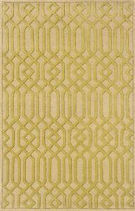 "4x6 Sphinx Wool Handmade Beige Chain Link 18102 Rug - Approx 3' 6"" x 5' 6"""