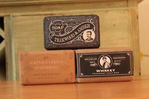 Castelbel Soap For Men Made in Portugal 10.5oz (Oatmeal, Whiskey, Teakwood)