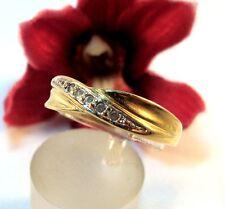 Schöner Pierre Lang Ring mit weißen Steinchen vergoldet Fingerring / bn 335