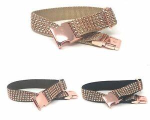 Fancy, Sparkly, Rose Gold Rhinestone Dog Collar On Gold, Brown, Or Black Nylon,