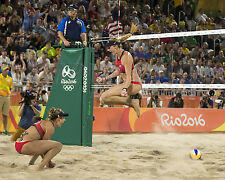 Kerri Walsh Jennings April Ross Rio 2016 Olympic Beach Volleyball 8X10 Photo