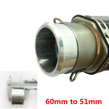 60mm to 51mm Universal Motorcycle Exhaust Adapter Reducer Connector Pipe Tube