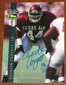 1992 Classic Draft Pick Quentin Coryatt Texas A&M Rookie Auto Autograph RC