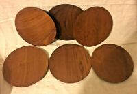 Vintage Koa Wood Salad Plate Plates Handmade Hand Turned Set Of 6 Dessert 7.5""