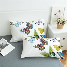 Pillowcase Set Of 2 Butterfly Microfiber Pillow Cover King & Queen Sizes Bedding