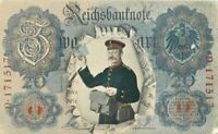 1908 Germany Reichsbanknote Currency Mail Carrier Postman Occupation Postcard
