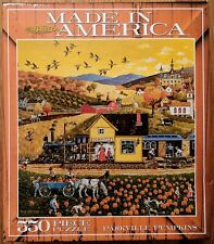 """Bob Pettes """"Parkville Pumpkins"""" 550 Piece Jigsaw Puzzle Ceaco Made in America"""