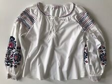 Parker Marcianna Embroidered Top in White Small Sample