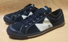 Macbeth Eliot Black Canvas Sneakers Shoes Size 14