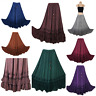 Maxi Skirt Embroidered Medieval Quality Rayon Viscose One Size 12 14 16 18 20 22