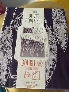 Duvet sets dream catcher feathers quilt cover bedding