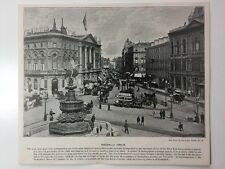 Victorian Print: Andre & Sleigh #PA: Piccadilly Circus