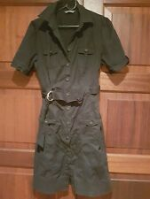 Ladies Black Shirt Dress Size 14 By Jacqui E