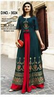 Indian Bollywood Designer pakistani western gown Kurta Kurti women ethnic dress