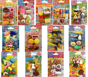 NEW TY IWAKO JAPANESE NOVELTY PUZZLE ANIMAL RUBBER ERASER SCHOOL SETS PACKS