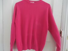 N PEAL OF LONDON PINK 100% CASHMERE JUMPER - SIZE 12/14 UK