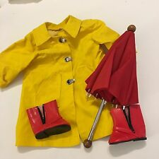 Molly American Girl Doll Outfit Raincoat Boots And Umbrella Vintage 90s Retired