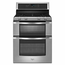 "Whirlpool 30"" Self-Cleaning Freestanding Double Oven Gas Range WGG555S0BS"