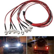 RC 8LED 5mm 4 Red + 4 White Headlight Taillight For RC Car Truck LED Light Kit