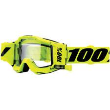 100 Percent Mx Accuri Forecast Fluro Yellow Motocross Roll-Off Clear