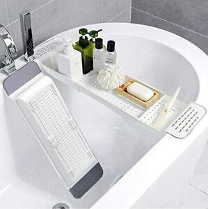 DURABLE Extendable Bath Rack Tub Bathroom Shelf Tray Storage Caddy Organiser