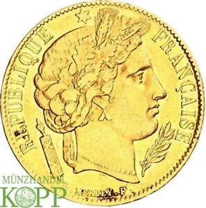 AB61176) FRANKREICH KÖNIGREICH 2. Republik, 1848-1852.  20 Francs 1851 A