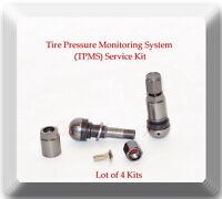 4 Kits Tire Pressure Monitoring System(TPMS)Sensor Service Kit Fits: Audi BMW &