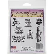 Our Daily Bread Cling Stamps Sing Thy Grace - NEW