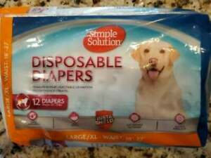 Simple Solution Disposable Dog Diapers Large/XL Wetness indicator